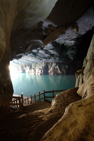a wonderful world: Phong Nha, Ke Bang cave, an amazing, wonderful cavern at Bo Trach, Quang Binh, Vietnam, is world heritage of Viet Nam,  impression formation, abstract shape from stalactite, wonderful place for travel Stock Photo