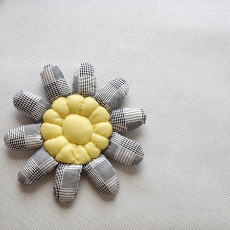 dishcloth: Handmade product for mothers day, sunflower hand made from fabric to make dishcloth or table setting
