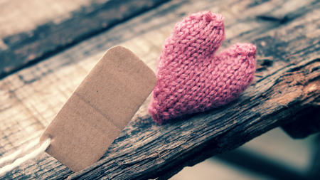 adultery: Divorce background with broken heart and message on wooden, unhappy marriage and adultery problem make stress life, society issue in modern lifestyle