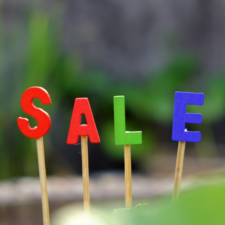 write off: Sale off background for shopping season, can use as label for special promotion at outdoor fashion store Stock Photo