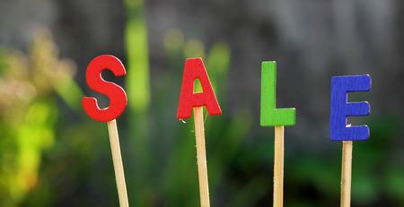 sale off: Sale off background for shopping season, can use as label for special promotion at outdoor fashion store Stock Photo