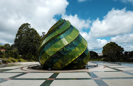 exciting: DA LAT, VIET NAM- SEPT 1, 2016: Lam Vien square with amazing architect from glass at Dalat, Vietnam on day, exciting destination for travel Editorial