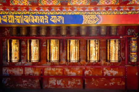 golden prayer wheel Stock fotó