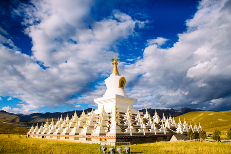 Daocheng White Pagoda Stock fotó