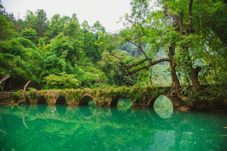 Guizhou Libo Xiaoqikong (Seven Small Arches) Scenic Area, Xiaoqikong Ancient Bridge