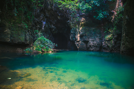 Guizhou Maolan National Nature Reserve, natural scenery, subsurface stream entrance