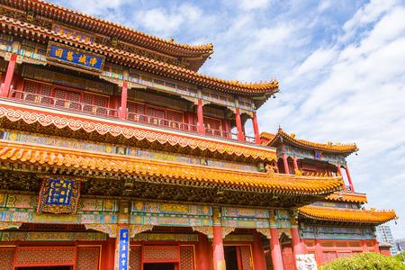 Beijing Tibetan Buddhist Temple, Lama Temple, classical architectural landscape