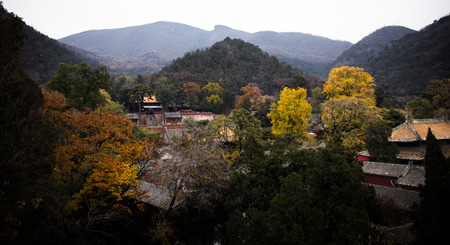 the humanities landscape: landscape of temple Stock Photo