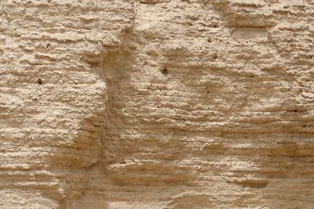 Close up view of chinese great wall texture