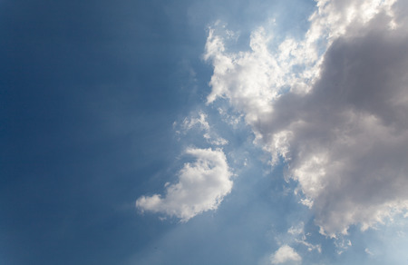 aspire: Blue sky and white clouds Stock Photo