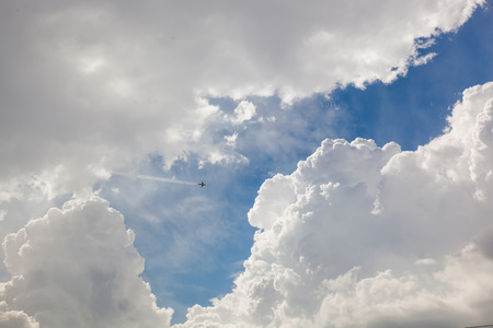 thick: Thick white clouds Stock Photo