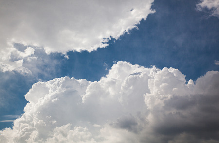 Thick white clouds Stock Photo