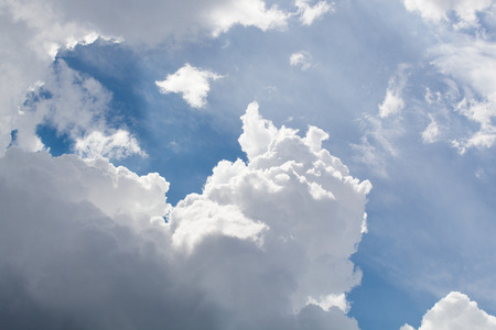 cumulus: Thick white clouds Stock Photo