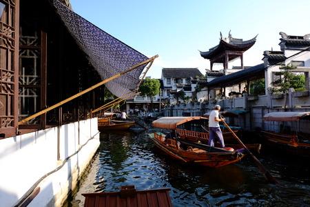boatman: China Jiangnan scenery Editorial