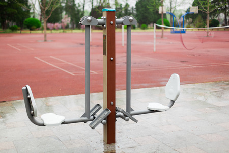 pedal: Public fitness equipment - double pedal power