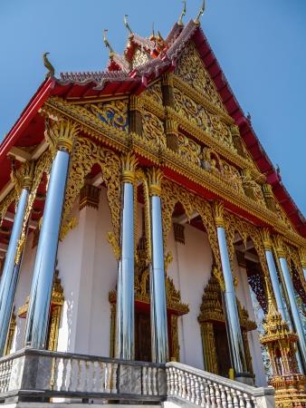 wiwekaram: Wangwiwegaram Temple and bule sky in Kanchanaburi