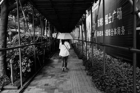 backview: walking corridor