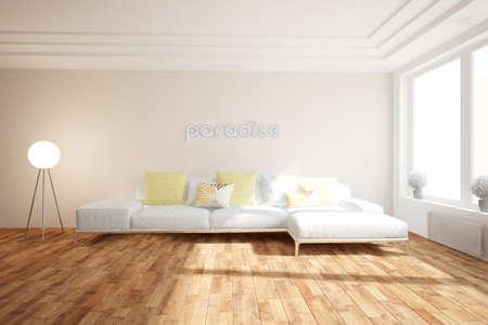 Modern interior design. 3D illustration Banque d'images - 150886246