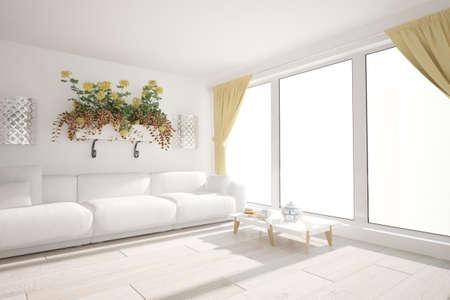 Modern interior design. 3D illustration Banque d'images - 150886248