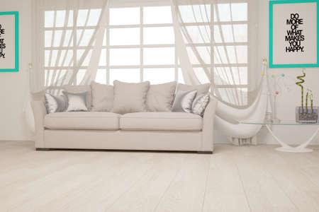 Modern interior design. 3D illustration Banque d'images - 150886368