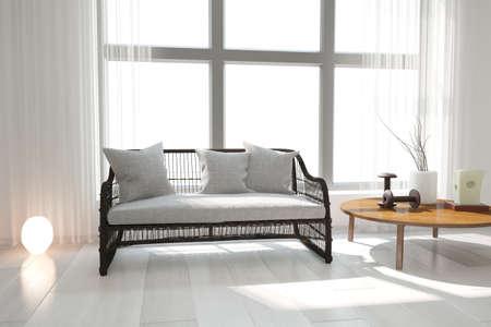 Modern interior design. 3D illustration Banque d'images - 150886378