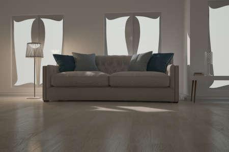 Modern interior design. 3D illustration Banque d'images - 150886379