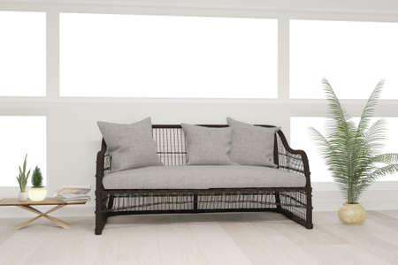 Modern interior design. 3D illustration Banque d'images - 150886420