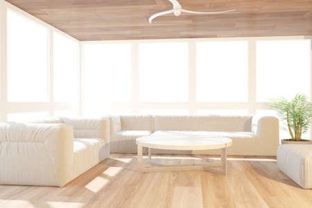 Modern interior design. 3D illustration Banque d'images - 150886439