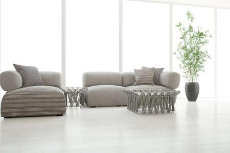 Modern interior design. 3D illustration Banque d'images - 150886445