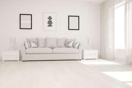 Modern interior design. 3D illustration Banque d'images - 150886456