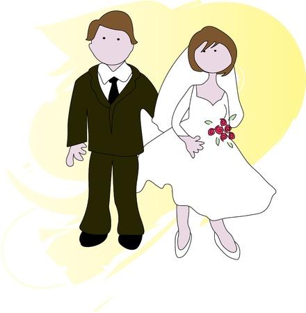 Bridal Couple Stock Vector - 10813653