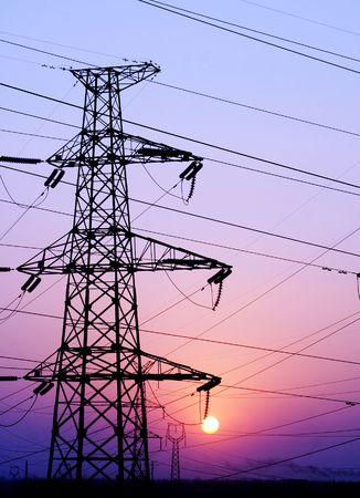 Tower, high voltage, transmission, line。  photo