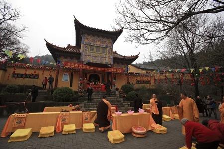 hindues: China Anhui Xiaoxian Shengquan templo ceremonia de apertura del festival Editorial