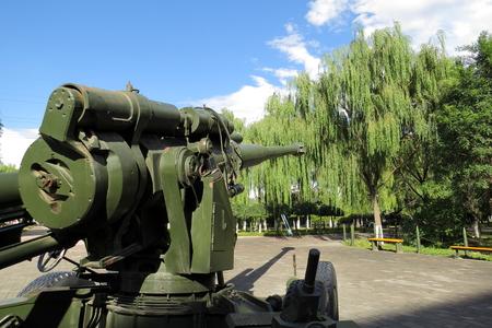 towed: military used gun Editorial