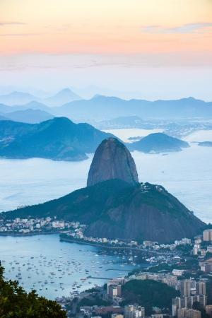 Rio de Janeiro, view from Corcovado to Sugarloaf Mountain Standard-Bild