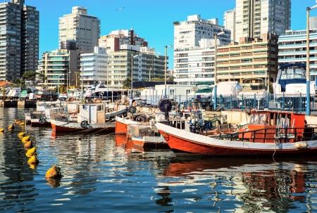 Fishing boats, Punta del Este, Uruguay Standard-Bild