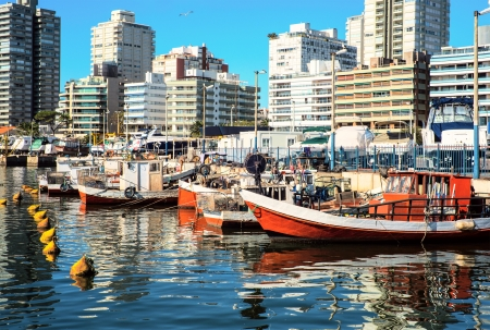 uruguay: Fishing boats, Punta del Este, Uruguay Stock Photo