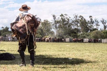 カンポ ・ マルドナド、ウルグアイ ガウチョ 写真素材