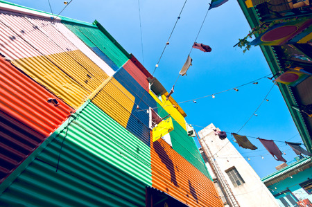 Colorful houses in La Boca, Buenos Aires, Argentina  photo
