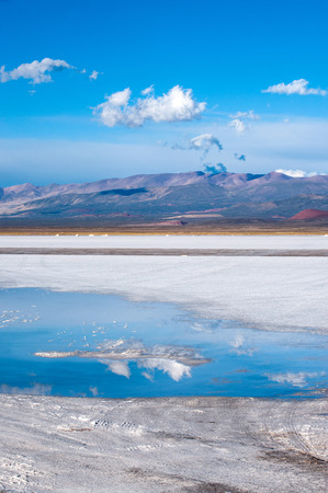 significantly: Salinas Grandes on Argentina Andes is a salt desert in the Jujuy Province  More significantly, Bolivas Salar de Uyuni is also located in the same region Stock Photo