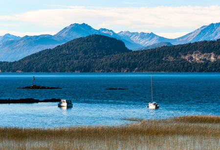 bariloche: Nahuel Huapi lake, Patagonia Argentina, near Bariloche Stock Photo