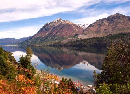 lake nahuel huapi: Autumn Colors in Lake Gutierrez, near Bariloche, Patagonia, Argentina Stock Photo