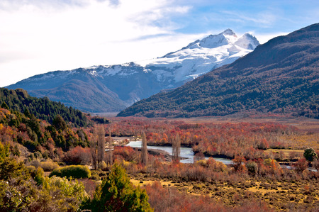 huapi: Tronador volcano, border between Argentina and Chile, Southern Volcanic Zone, Patagonia, Bariloche. Stock Photo