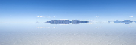 Salt lake Salar de Uyuni in Bolivia. The surface is about 10.000 square kilometers and it hides also the biggest Lithium reserve of the world photo