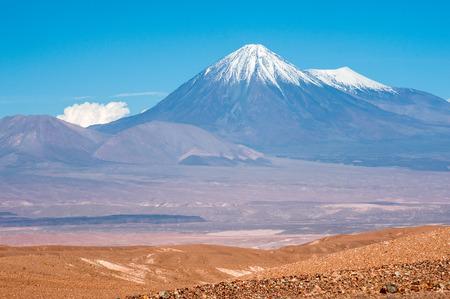 Volcanoes of Cordillera de la Sal, west of San Pedro de Atacama, Atacama desert of Chile Standard-Bild