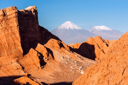 san pedro: Volcanoes Volcanoes Licancabur and Juriques, Cordillera de la Sal, west of San Pedro de Atacama, Atacama desert of Chile