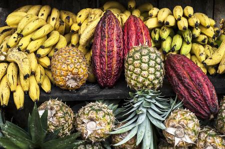 street market: Latin America Fruit street market, Ecuador