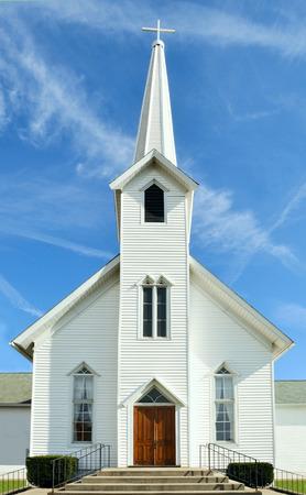 midwest usa: Rural Church, Midwest, Ohio, near Akron, USA