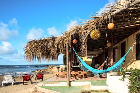 Bungalows and hammocks, Cabo Polonio, Uruguay