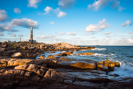 Lighthouse in Cabo Polonio, Rocha, Uruguay Standard-Bild